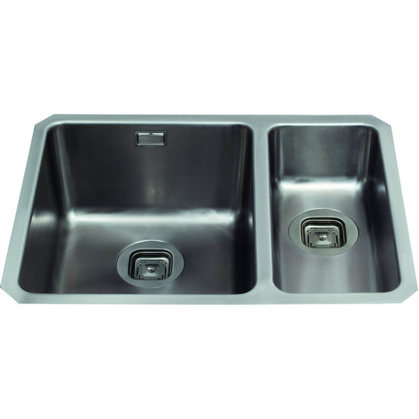 CDA KVC35RSS 1.5 bowl stainless steel undermount - small bowl on right Stainless Steel-Appliance People