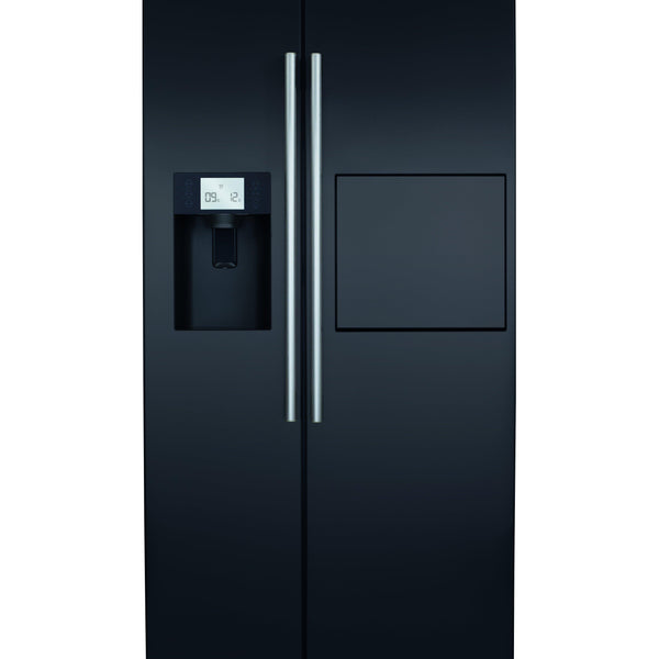CDA PC71BL American style side by side fridge freezer with home bar Black-Appliance People