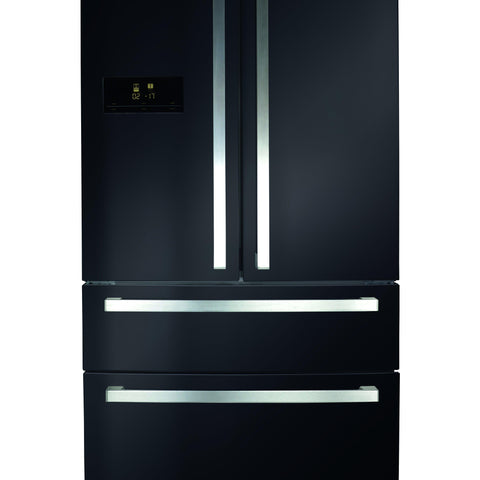 CDA PC870BL Freestanding 2 door + 2 drawer fridge freezer Black-Appliance People