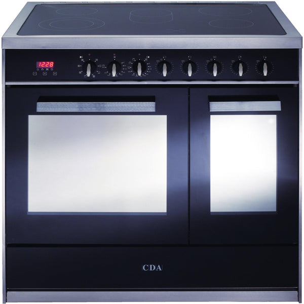 CDA RV961SS 90cm twin cavity electric range cooker Stainless Steel-Appliance People