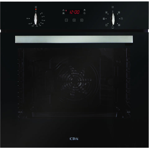 CDA SK310BL Seven function large capacity single oven Black-Appliance People