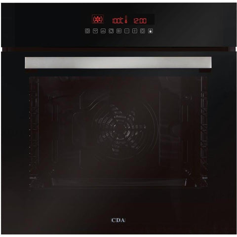 CDA SK511BL Eleven function LCD Pyrolytic oven Black-Appliance People