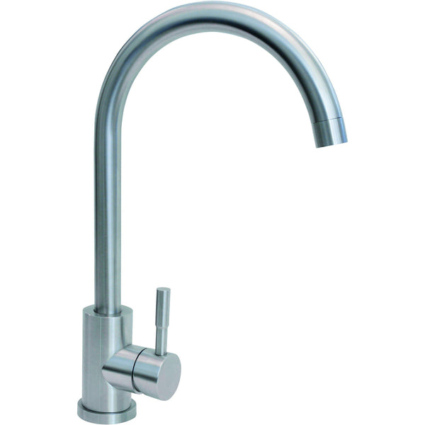 CDA TC31SS Single lever stainless steel tap Stainless Steel-Appliance People
