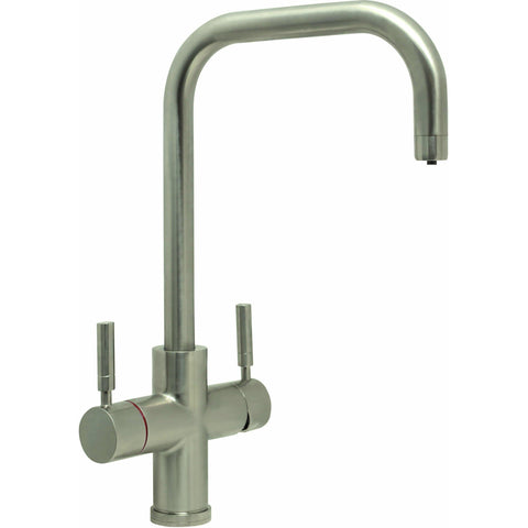 CDA TH101BR 3 in 1 Instant hot water tap Brushed steel-Appliance People