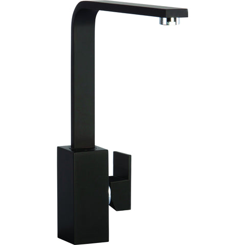 CDA TV9BL Square contemporary side lever tap in black Black-Appliance People