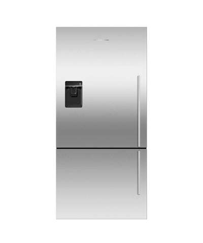 Fisher & Paykel E522BLXFDU4 790mm designer fridge freezer with ice & water Left Hand Hinge-Appliance People