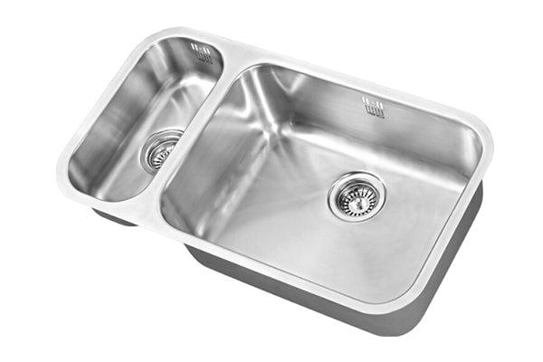 The 1810 Company ETRODUO 191/535U BBR Undermount Sink Stainless Steel-Appliance People