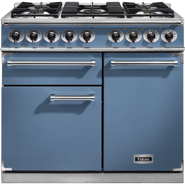Falcon F1000DXDFCA/NM 1000 Deluxe 100cm Dual Fuel Range Cooker China Blue-Appliance People