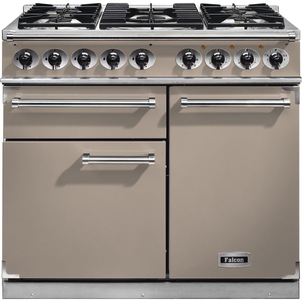 Falcon F1000DXDFFN/NM 1000 Deluxe 100cm Dual Fuel Range Cooker Fawn-Appliance People