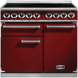Falcon F1000DXEIRD/N-EU 1000 Deluxe 100cm Induction Range Cooker Cherry Red-Appliance People