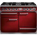 Falcon F1092DXDFRD/NM 1092 Deluxe 110cm Dual Fuel Range Cooker Cherry Red-Appliance People