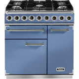 Falcon F900DXDFCA/NM 900 Deluxe 90cm Dual Fuel Range Cooker China Blue-Appliance People