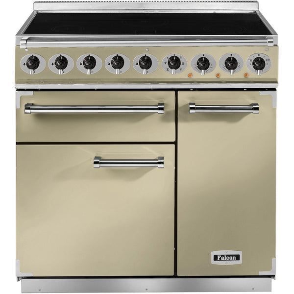 Falcon F900DXEICR/EU 900 Deluxe 90cm Induction Range Cooker Cream-Appliance People