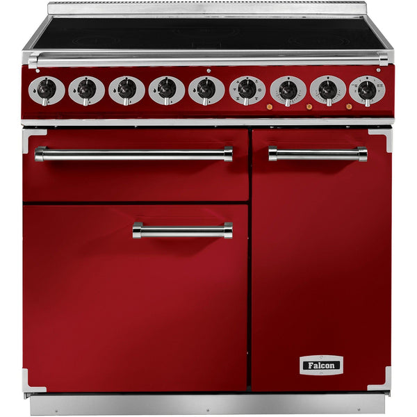 Falcon F900DXEIRD/N-EU 900 Deluxe 90cm Induction Range Cooker Cherry Red-Appliance People