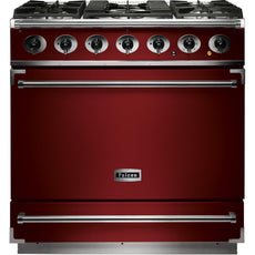 Falcon F900SDFRD/NM-EU 900 Single Cavity 90cm Dual Fuel Range Cooker Cherry Red-Appliance People