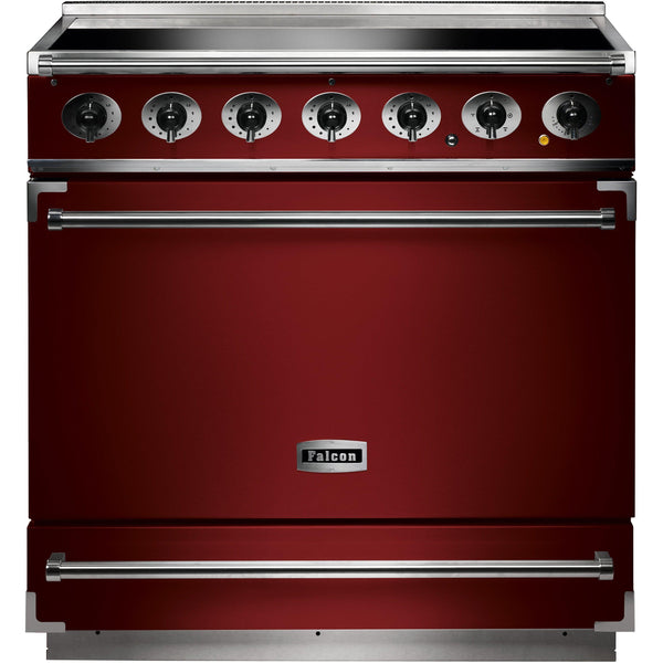 Falcon F900SEIRD/N-EU 900 Single Cavity 90cm Induction Range Cooker Cherry Red-Appliance People