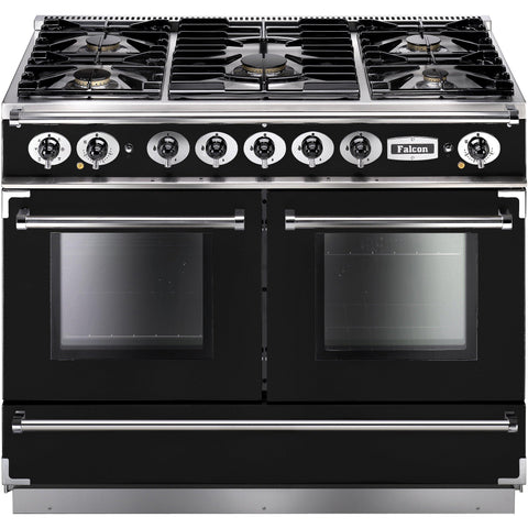Falcon FCON1092DFBL/CM-EU 1092 Continental 110cm Dual Fuel Range Black-Appliance People