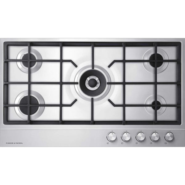 Fisher & Paykel CG905DNGX1 Gas on Steel Hob 90cm 5 Burner-Appliance People