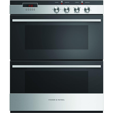 Fisher & Paykel OB60HDEX3 60cm Designer Built Under Double Oven Brushed Stainess-Appliance People