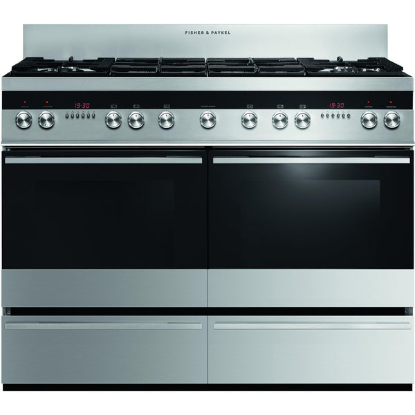Fisher & Paykel OR120DDWGX2 120cm Dual Fuel Range Cooker Brushed Stainless-Appliance People
