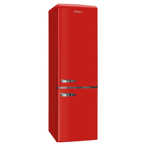 Amica FKR29653R Retro 55cm Fridge Freezer in Red