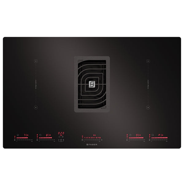Faber GALILEO BK Galileo 83cm Air Venting Induction Hob – BLACK