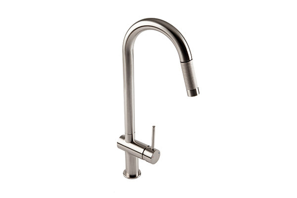 The 1810 Company GRANDE PULL OUT Tap Brushed Steel-Appliance People