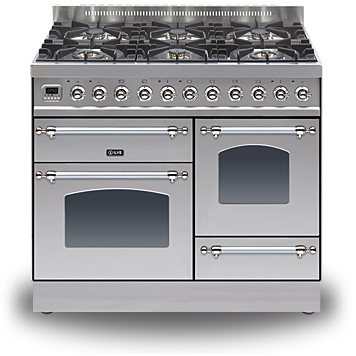 ILVE Milano Dual Fuel Range Cooker 100cm XG 6 Burner Stainless Steel-Appliance People