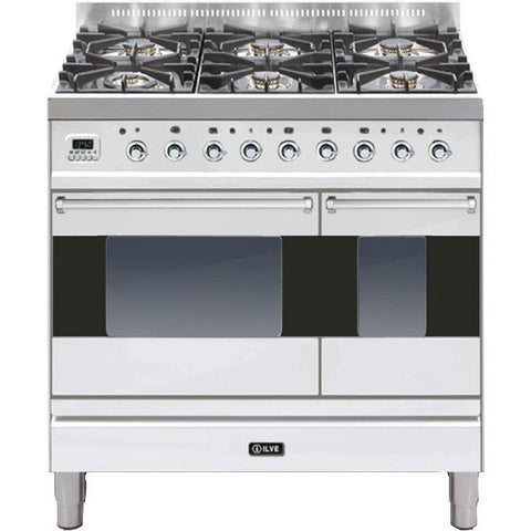 ILVE Moderna Dual Fuel Range Cooker 90cm Twin 6 Burner Stainless Steel-Appliance People