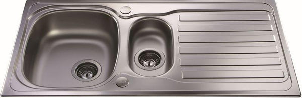 CDA KA22SS Inset 1.5 bowl sink Stainless Steel-Appliance People