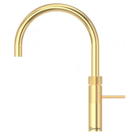 Quooker 3FRGLD PRO3 Fusion Round 3-in-1 Boiling Water Tap in Gold