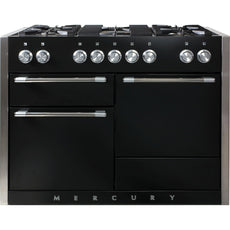 Mercury MCY1200DFAB/ 1200 120cm Dual Fuel Range Cooker Black-Appliance People