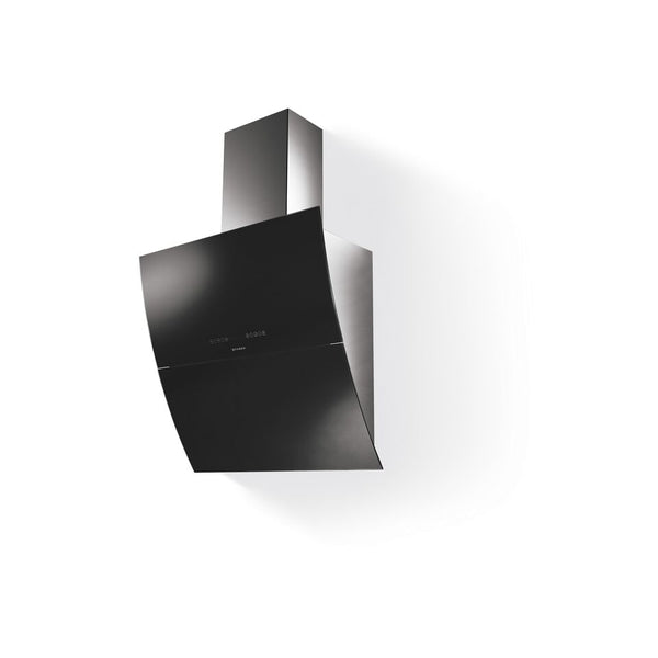 Faber Mirror Chimney Hood 80cm  Black Glass