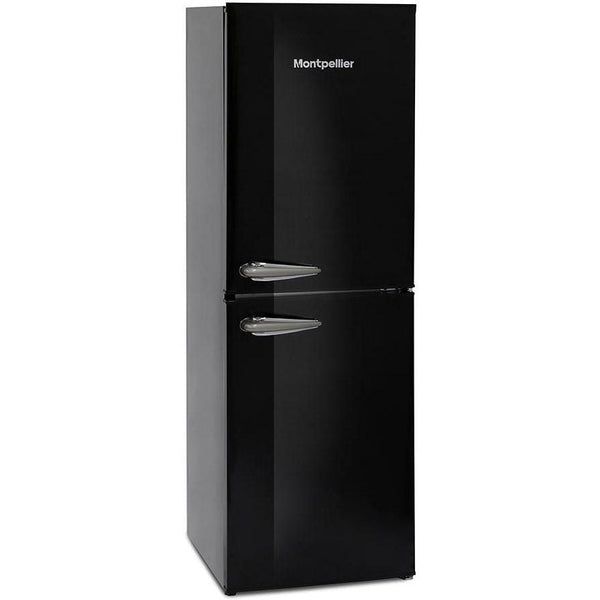 Montpellier MAB148K Retro Fridge Freezer Black-Appliance People