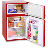 Montpellier MAB2030R Under Counter Mini Retro Fridge Freezer Red-Appliance People