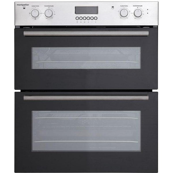 Montpellier MDO70X Double Built-under Oven, Electric, Stainless Steel-Appliance People