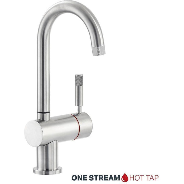 Montpellier One Stream Brushed Swan Spout Hot Tap-Appliance People
