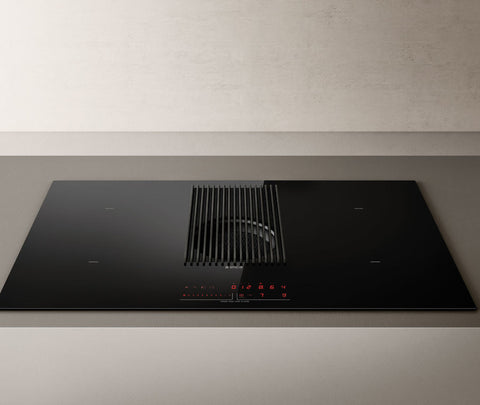Elica NIKOLATESLA PRIME BLK RC 83cm Recirculated Air Venting Induction Hob in Black ** IN STOCK **