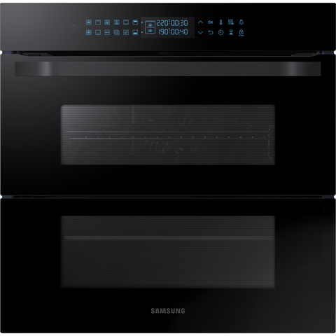 Samsung NV75R7646RB Prezio Dual Flex Single Oven in Black Glass