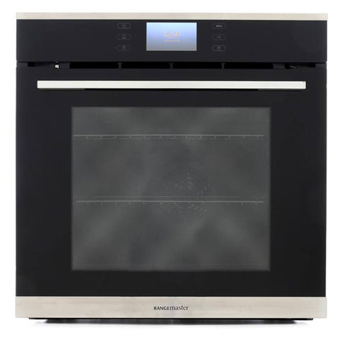 Rangemaster RMB610PBL/SS 60CM BUILT-IN PYROLYTIC SINGLE OVEN 112160