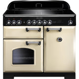Rangemaster CDL100EICR Classic Deluxe 100cm Induction Range Cooker Cream-Appliance People