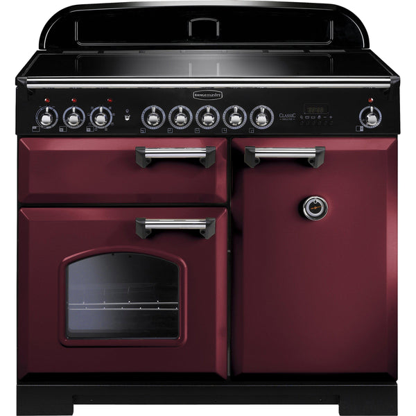 Rangemaster CDL100EICY Classic Deluxe 100cm Induction Range Cooker Cranberry-Appliance People