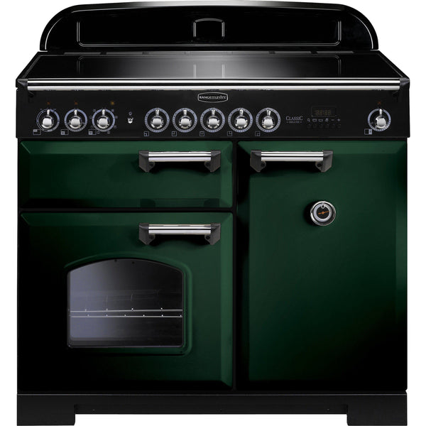 Rangemaster CDL100EIRG Classic Deluxe 100cm Induction Range Cooker Green-Appliance People