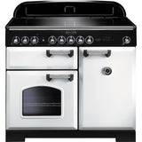 Rangemaster CDL100EIWH Classic Deluxe 100cm Induction Range Cooker White-Appliance People