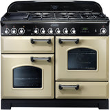 Rangemaster CDL110DFFCR Classic Deluxe 110cm Dual Fuel Range Cooker Cream-Appliance People