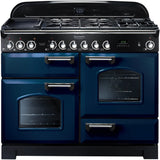 Rangemaster CDL110DFFRB Classic Deluxe 110cm Dual Fuel Range Cooker Blue-Appliance People