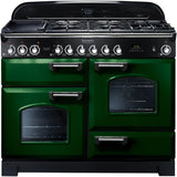 Rangemaster CDL110DFFRG Classic Deluxe 110cm Dual Fuel Range Cooker Green-Appliance People