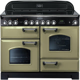 Rangemaster CDL110ECOG Classic Deluxe 110cm Ceramic Range Cooker Olive Green-Appliance People