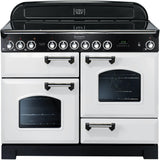 Rangemaster CDL110ECWH Classic Deluxe 110cm Ceramic Range Cooker White-Appliance People