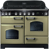 Rangemaster CDL110EIOG Classic Deluxe 110cm Induction Range Cooker Olive Green-Appliance People